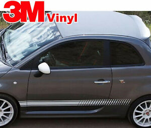Strobe Rocker Graphic Stripes Graphics Decals Decal fits: All Fiat 500 Abarth
