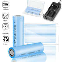 3500mAh 18650 Rechargeable Li-on Batteries 3.7V Battery For Flashligh With Case