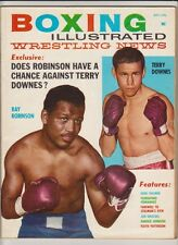 BOXING ILLUSTRATED MAG SUGAR RAY ROBINSON BOXING HOFer-TERRY DOWNES OCTOBER 1961