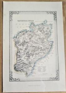 1868; Caithness Shire; Scottish Victorian County Map; Wilson/Fullarton
