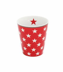 KRASILNIKOFF Mug Becher - Tasse ohne Henkel red star Sterne Höhe ca. 10 cm HM12