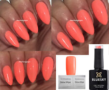 BLUESKY CALIFORNIA CORAL NEON CORAL LIMITED NAIL GEL POLISH UV LED SOAK OFF