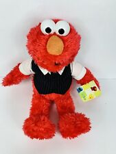 Sesame Street Elmo Build A Bear Wearing White Collared Shirt W/ Tie And Vest