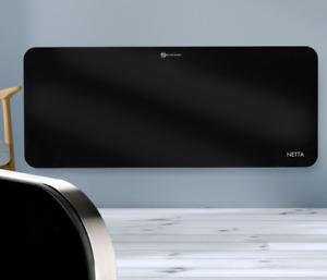 Black 2000W Electric Glass Panel Heater Wall Mounted Grade B Used
