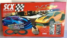 SCX Slot Car Race Set with extra accessories! 1:43 scale Lot A