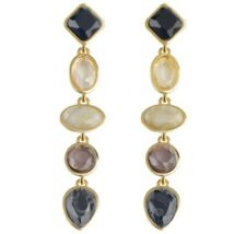 Gem Stone Natural Crystal Resin Drop Earrings Other Bloggers Stories Mango