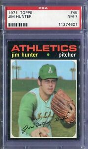 1971 Topps #45 Jim Hunter PSA 7 NM