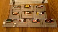 Super Nintendo Lot of 10 Games Including Captain Novolin