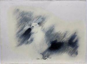 """Lyzette Rosado, Still Bird, Serigrafia, Puerto Rico, 22"""" x 30"""", 1984, Signed"""