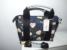 RADLEY MEDIUM  BLACK HEARTS OILSKIN CROSS BODY/CARRY BAG  NWT