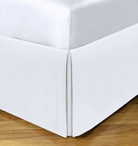 """Spacemaker Extra-Long 21"""" Drop Length Bed Skirt King White"""