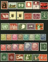 West Germany 1952/57 small range of issues to include '52 Postman '54 Ehr Stamps
