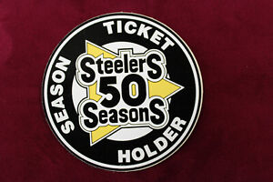 1982 Pittsburgh Steelers 50th Anniversary Season Ticket Holder Sticker NICE!