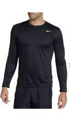 New- Mens Nike Dri Fit Team Legend Long Sleeve Top- 727980- Black Xxl