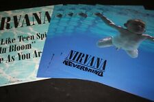 Last Set Nirvana Nevermind Original Us 12x12 Promo Flats x9 Unused Kurt Cobain