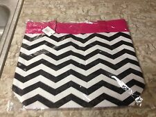 New Black & White Chevron Bag with Pink Trim-purse-tote