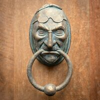 Jacob Marley Door Knocker Sculpture - Faux Metal - A Christmas Carol - Dickens