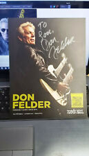 Eagles Signed picture Autographed by Don Felder (rock Beatles Doors Beach Csny )