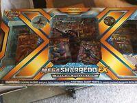 Pokemon TCG Mega Sharpedo EX Pin Collection Box Premium BRAND NEW .