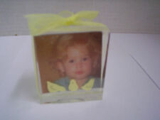 """Baby Picture Frame With Chicks By Child to Cherish, 2"""" x2.25"""",Clear Arcylic, New"""