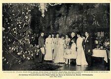 Wittelsbachpalais Weihnachtsbescherung bei  Prinz Ludwig * Gruppenbild von 1903