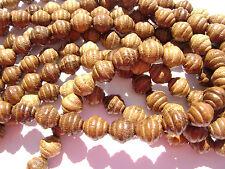cl-126 perline di legno Robles artigianale marrone cera LUCIDATO SATURNO