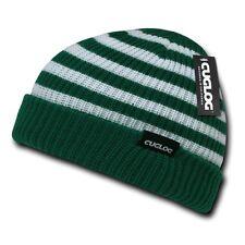 Forest Green White Knit Warm Winter Skull Ski Sailor Beanie Beanies Cap Hat Hats