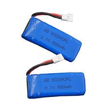 2pc 3.7V 25C 500mAh For Hubsan X4 H107D H107C BC51 Drone RC Li-po battery 802042