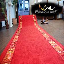 Runner Rugs, RAMZES red, modern NON-slip, Stairs Width 67cm-120cm extra long