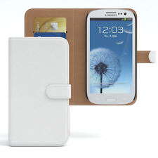 Tasche für Samsung Galaxy S3 / Neo Case Wallet Schutz Hülle Cover Weiß