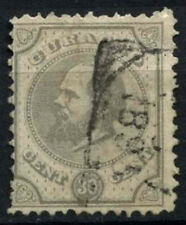 More details for curacao 1873-9 sg#24, 30c pearl grey p12.5x12 used #d43764
