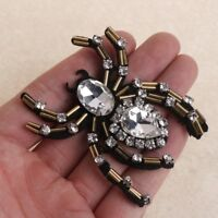 DIY Rhinestone Spider Beaded Patch for Clothing Sewing Shirt Shoes Bags Apparel