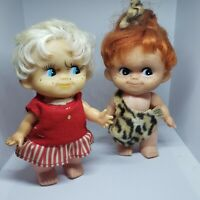Vintage 1963 Holiday Fair Inc Dolls Red & Blond Hair See Photos to See Condition