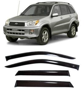 For Toyota Rav4 5d 2000-2005 Side Window Visors Sun Rain Guard Vent Deflectors