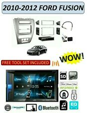 2010-2012 FORD FUSION SILVER FINISH STEREO KIT, BLUETOOTH TOUCHSCREEN DVD USB