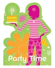 Girls 13th Birthday Party Invitations - 8 Pack