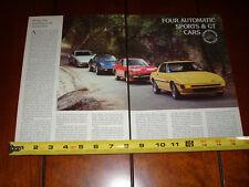 1979 MAZDA RX7 vs. CORVETTE vs. DATSUN 280ZX vs. PORSCHE 924 - ORIGINAL ARTICLE