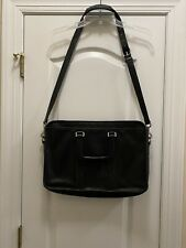 Coach Vintage Black Leather Embassy Briefcase With Strap