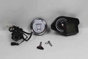 Aprilia RSV4 1000 RF 16 Ignition Switch Fuel Gas Cap Key Dash Gauge Speedometer