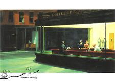 Kunstkarte  -  Edward Hopper: Nachtschwärmer