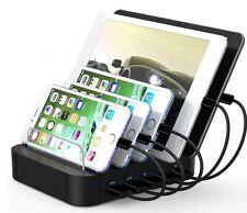 Estación de carga USB ttplanet 5 Puertos Soporte Organizador para iPhone, iPad y Tablets