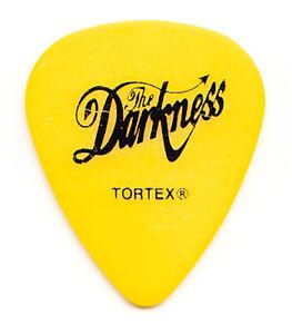The Darkness Justin Hawkins Yellow Guitar Pick - 2003 Tour