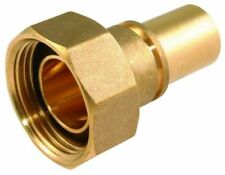 22mm Gas meter union connector adapter brass with rubber washer