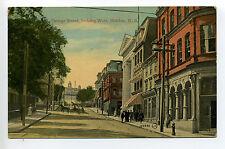Halifax NS Nova Scotia George Street, people, horse, wagon, stores, early
