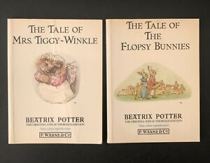 Beatrix Potter The Tale of the Flopsy Bunnies & Tale Of Mrs Tiggy Wrinkle 1987