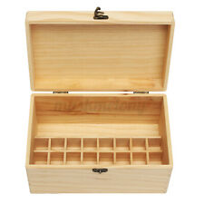 32 Bottle Essential Oil Wooden Storage Box Case Container Aromatherapy