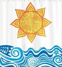 Sunny Seas Textured Fabric Shower Curtain 70x72