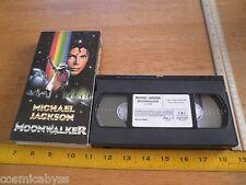 Michael Jackson Moonwalker 1988 VHS HTF ORIGINAL CMV sleeve case