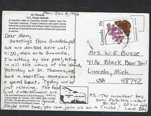 GRENADA  (PP2101B)  1996 BUTTERFLY 35C ON PPC TO USA