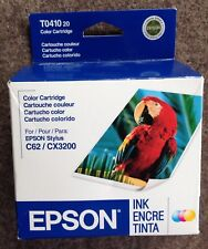 (1) EPSON T044120 COLOR INK CARTRIDGE for STYLUS C62 CX3200, GENUINE, 2008